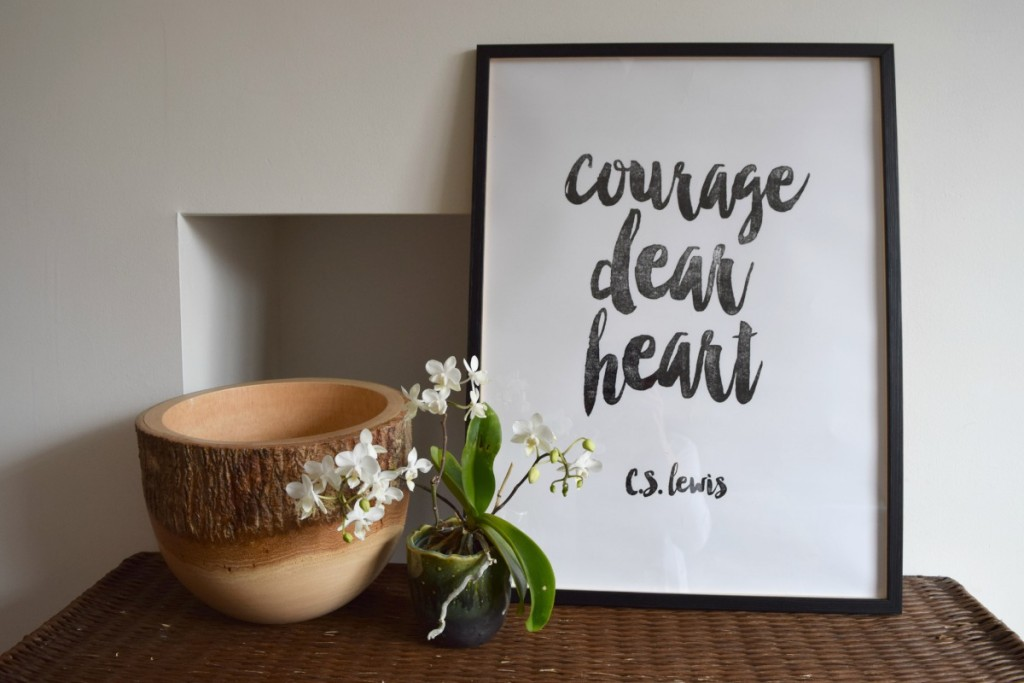 Courage, dear heart quote