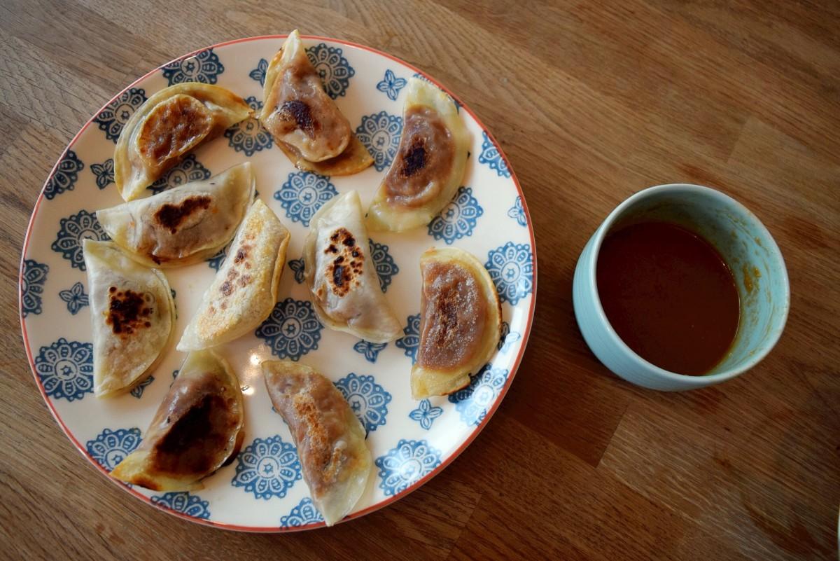 Gyoza cooked