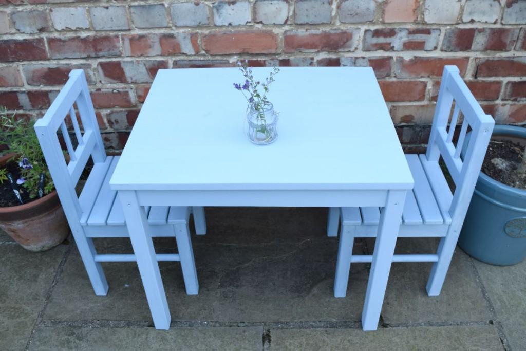An Ikea Sulva (like a Latt) table painted in Annie Sloan Chalk Paint