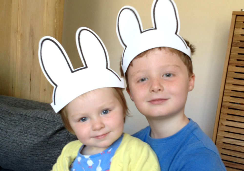 Kids in Miffy ears