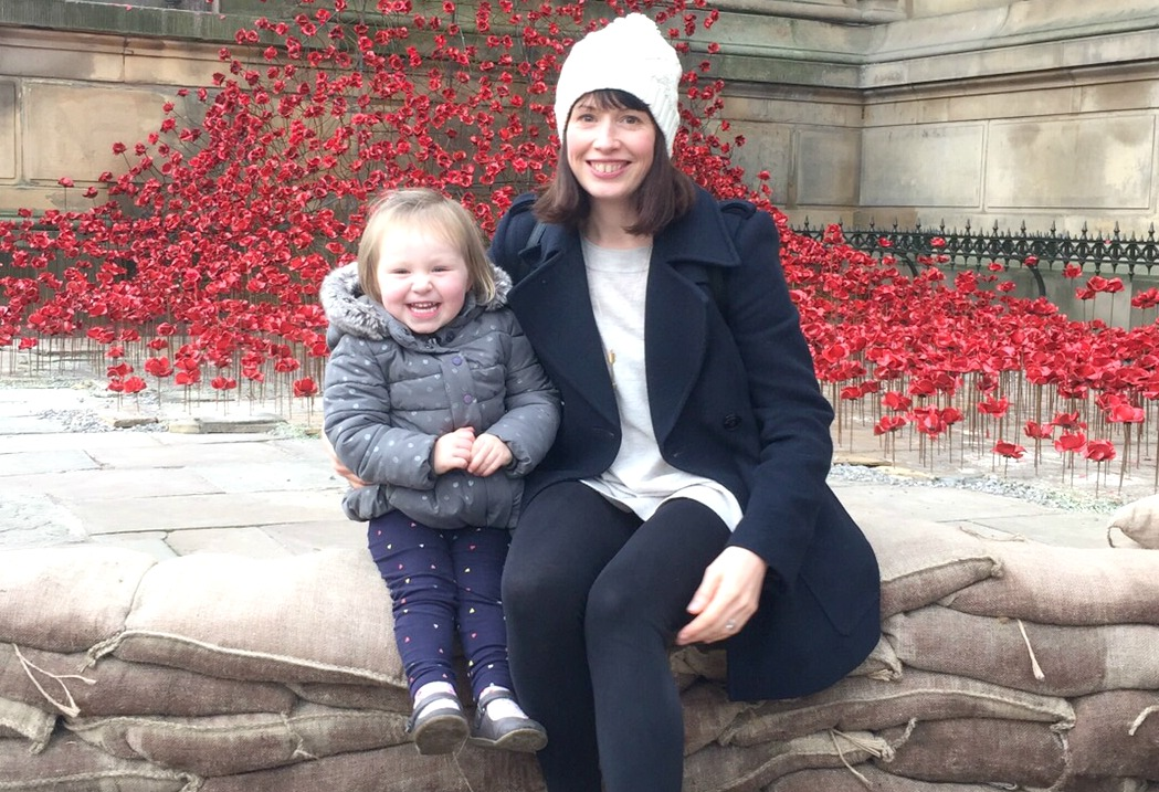 Me, Flo and the poppies