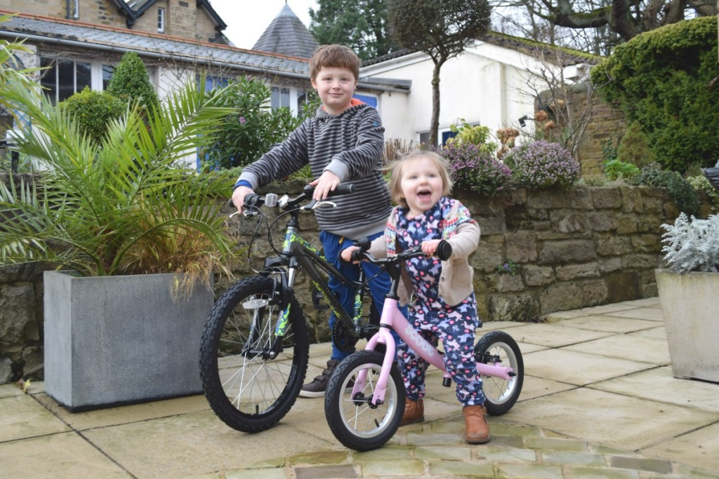 Sam and Flo with new bikes 2015 http://rainbeaubelle.com