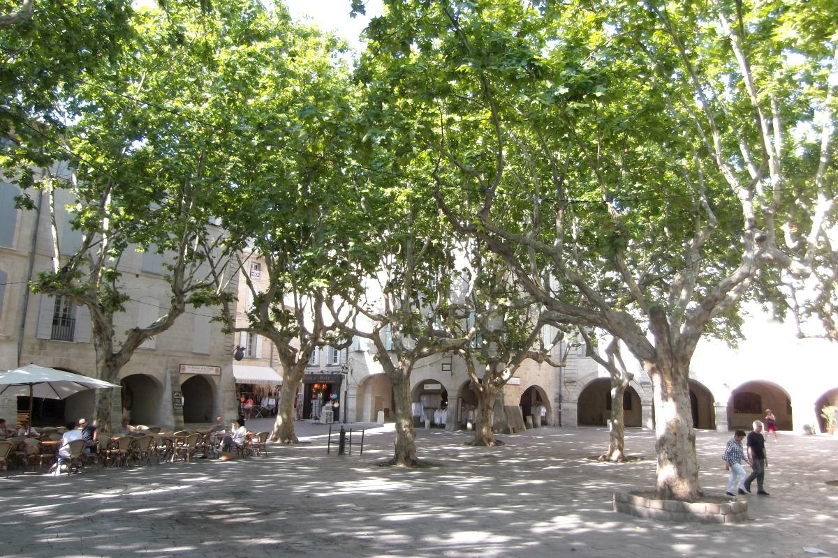 Uzes town centre