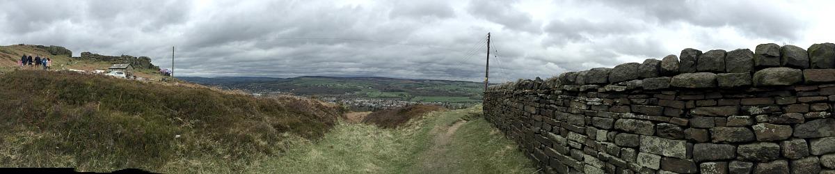 Ilkley Moor panorama