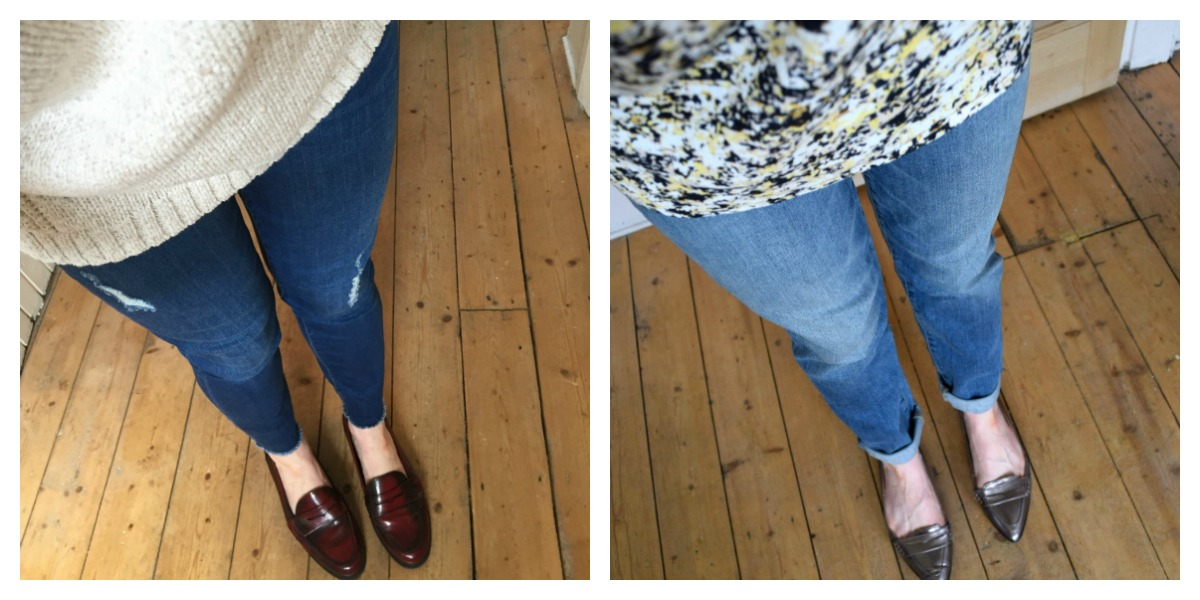 Jeans collage Gap ankle skinnies and classic
