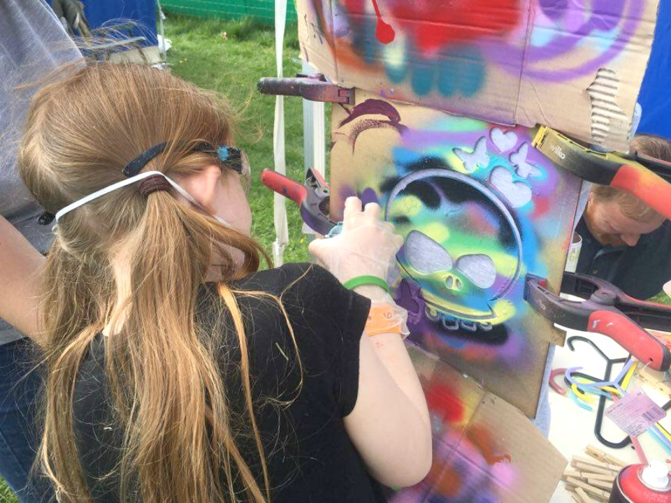 Spray painting at Geronimo
