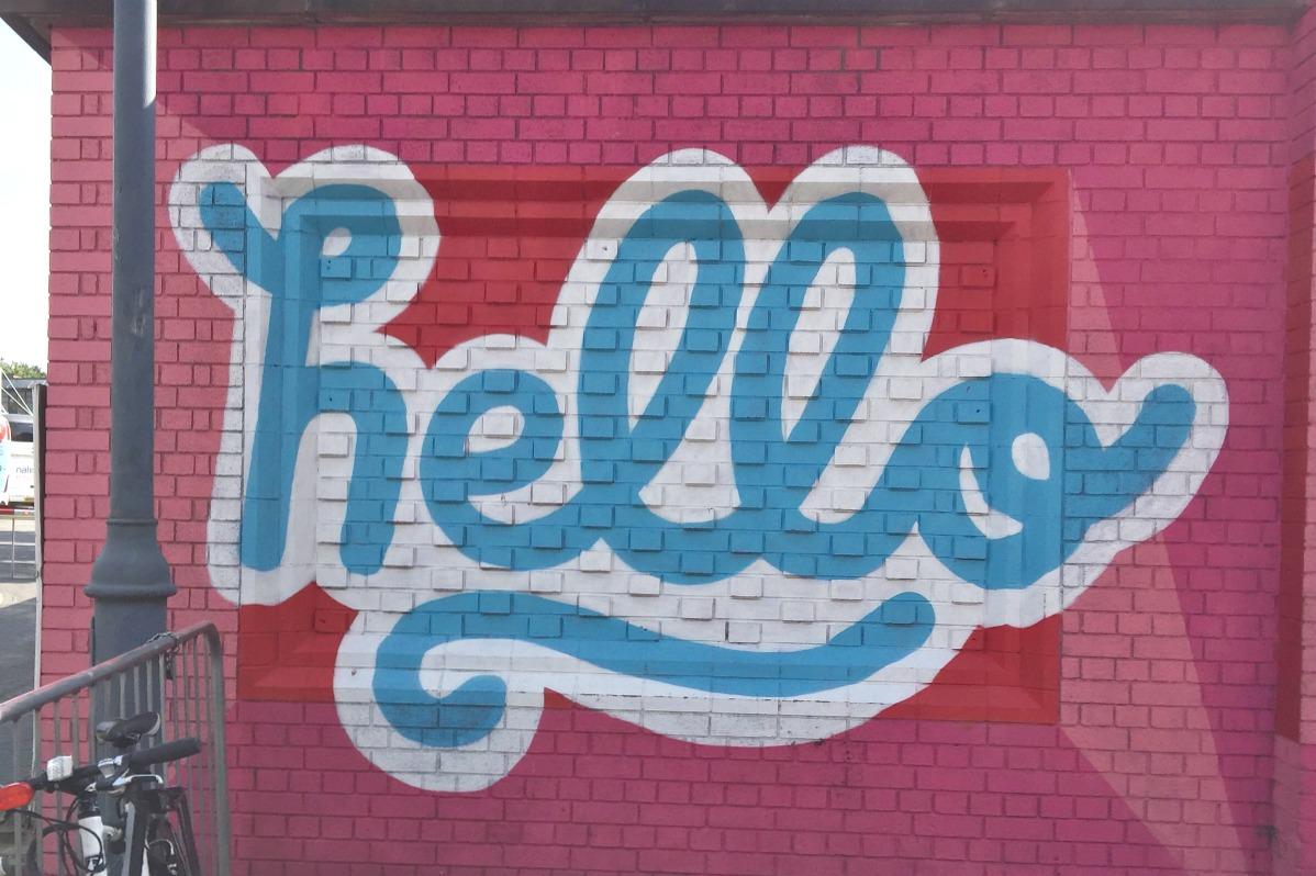 Hello mural