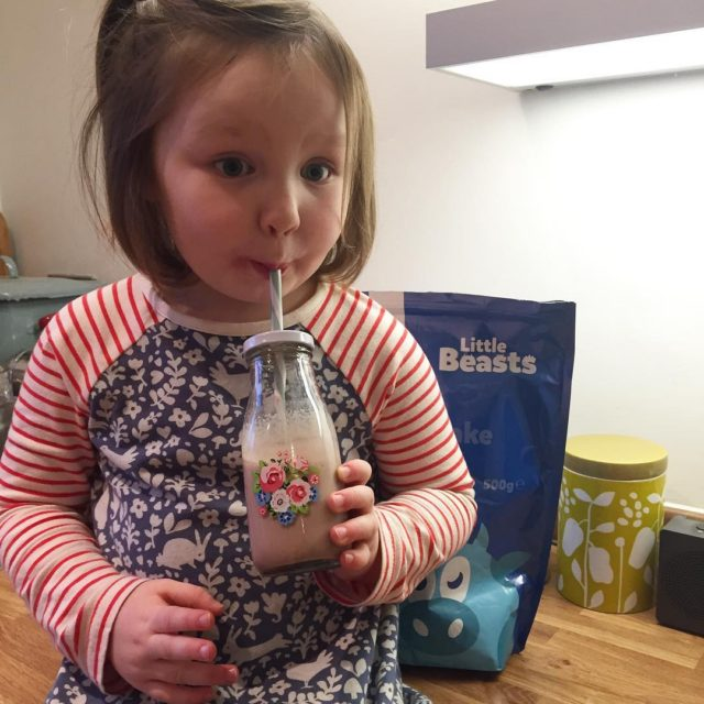 The cutest milkshake drinking face ever! She knows how tohellip