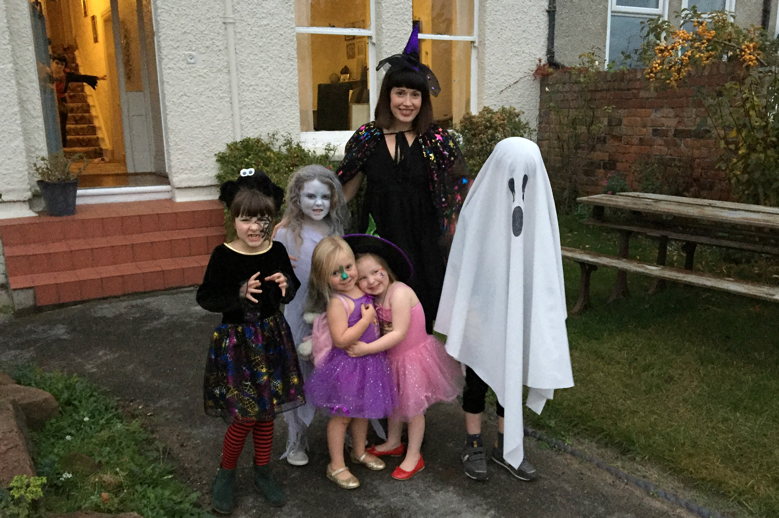 Jules and kids halloween 2016