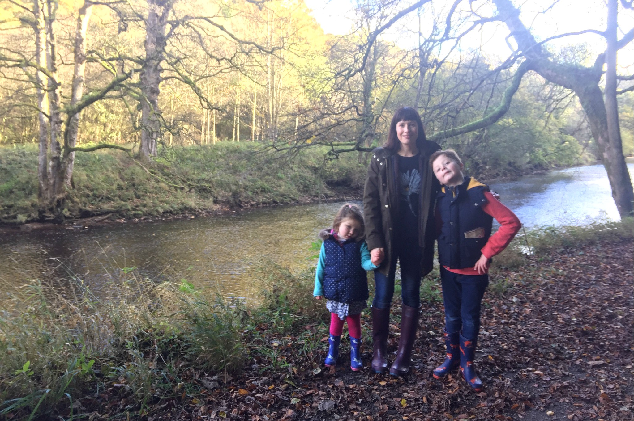 Me and Mine on the welly walk at Bolton Abbey