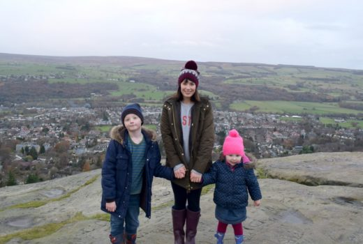 Me and the kids on Ilkley Moor