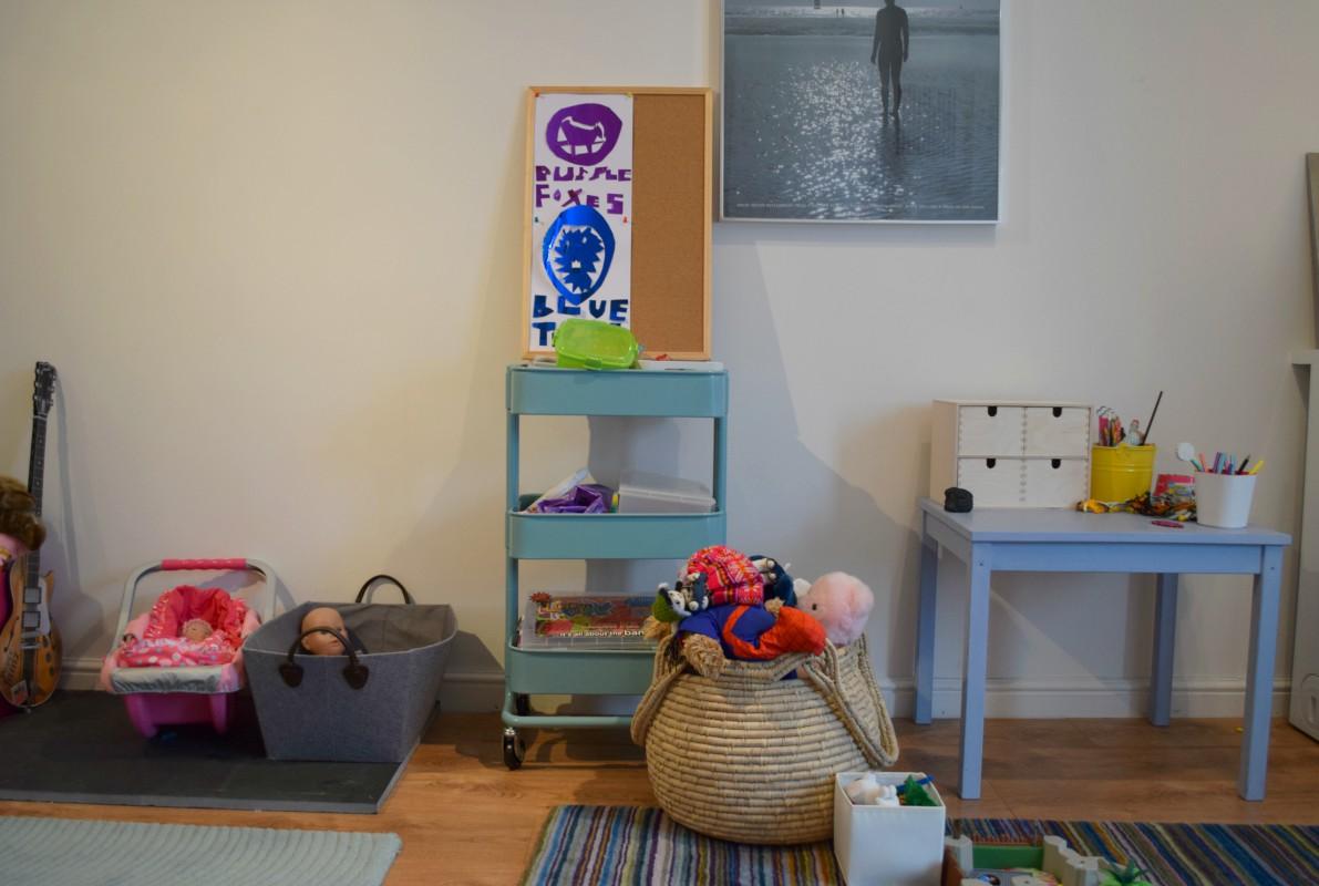 A very unorganised playroom