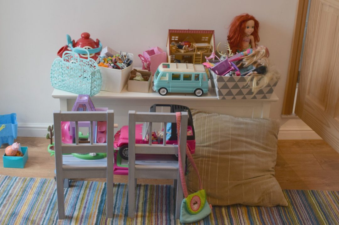 Close up of toys in playroom