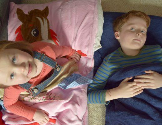 Ollie and Leila snuggle sacs