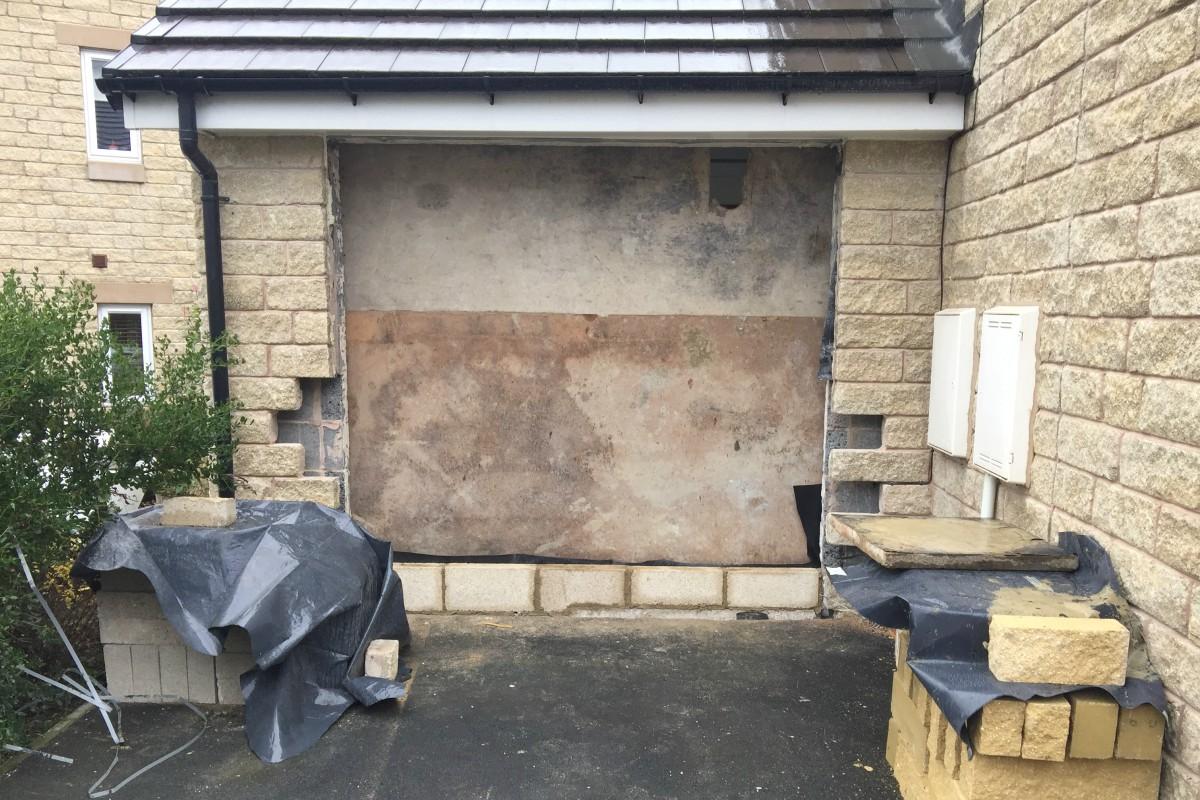 Garage door off