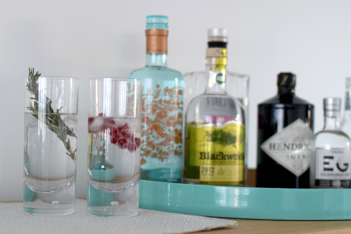 Glasses for gin with Darlington high balls