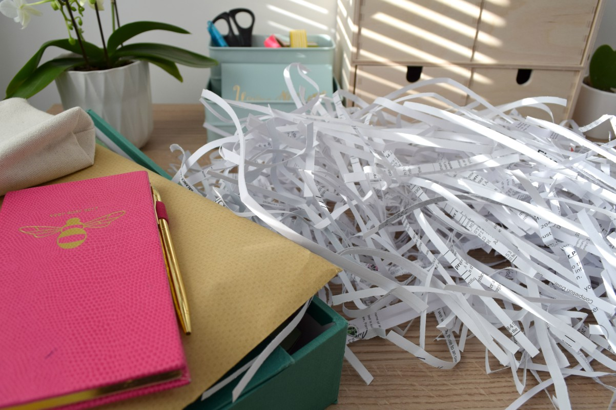Shredded paper in my office