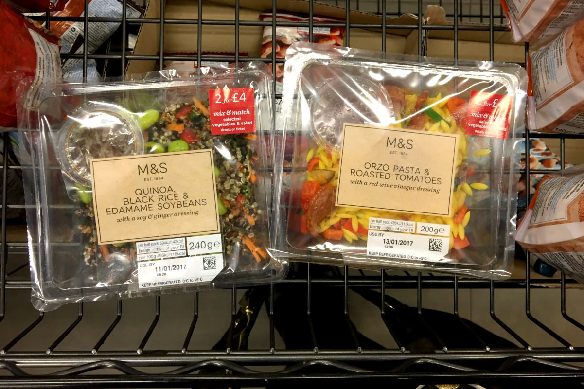 Vegan salads from M&S