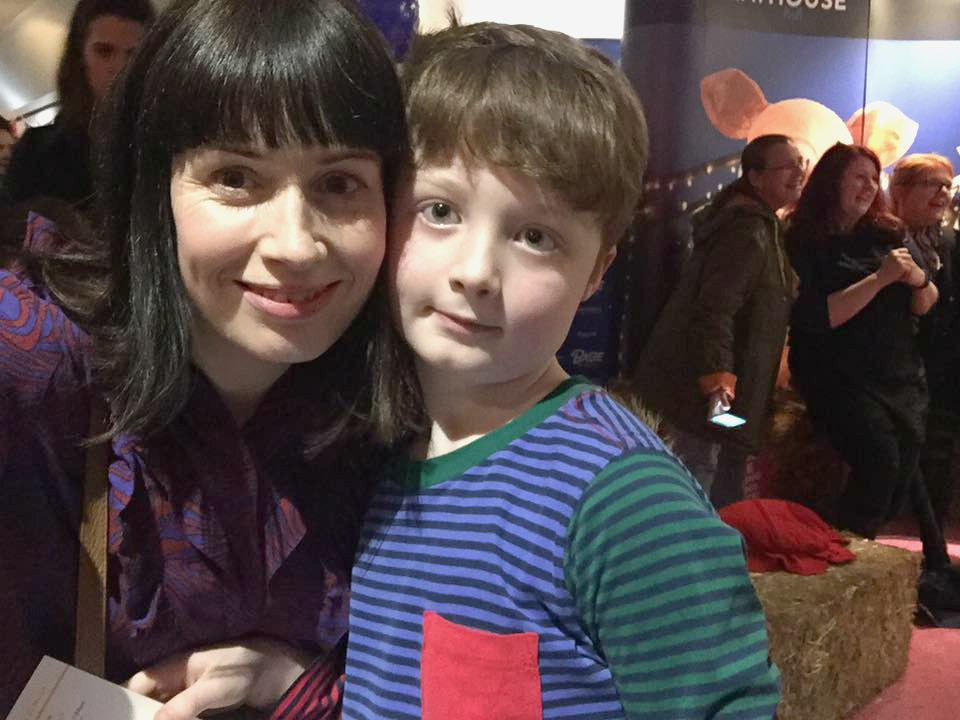 Sam and I at the West Yorkshire Playhouse