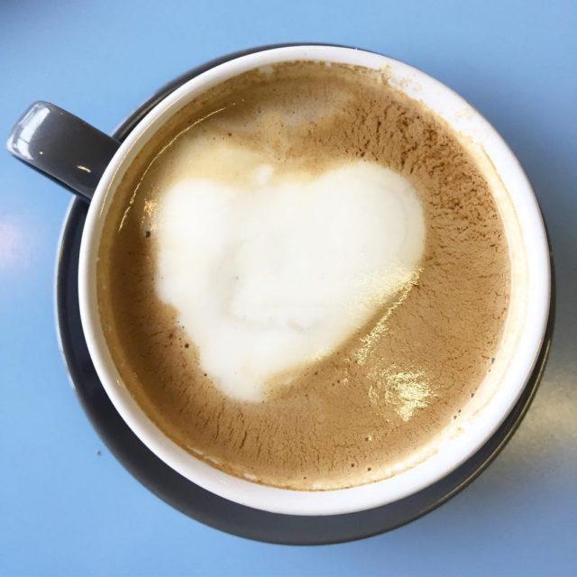 Hearts in my soya milk americano