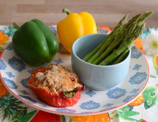 Roast peppers for Veganuary - Rainbeaubelle