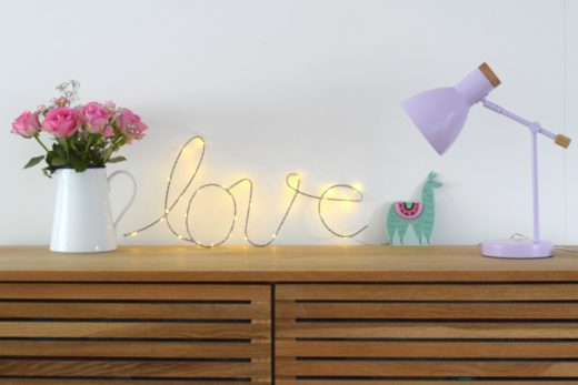 Love sign from Cox & Cox - Rainbeaubelle