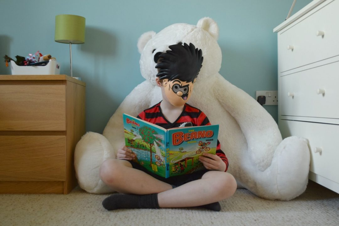 Dennis the Menace on Book Day - Rainbeaubelle