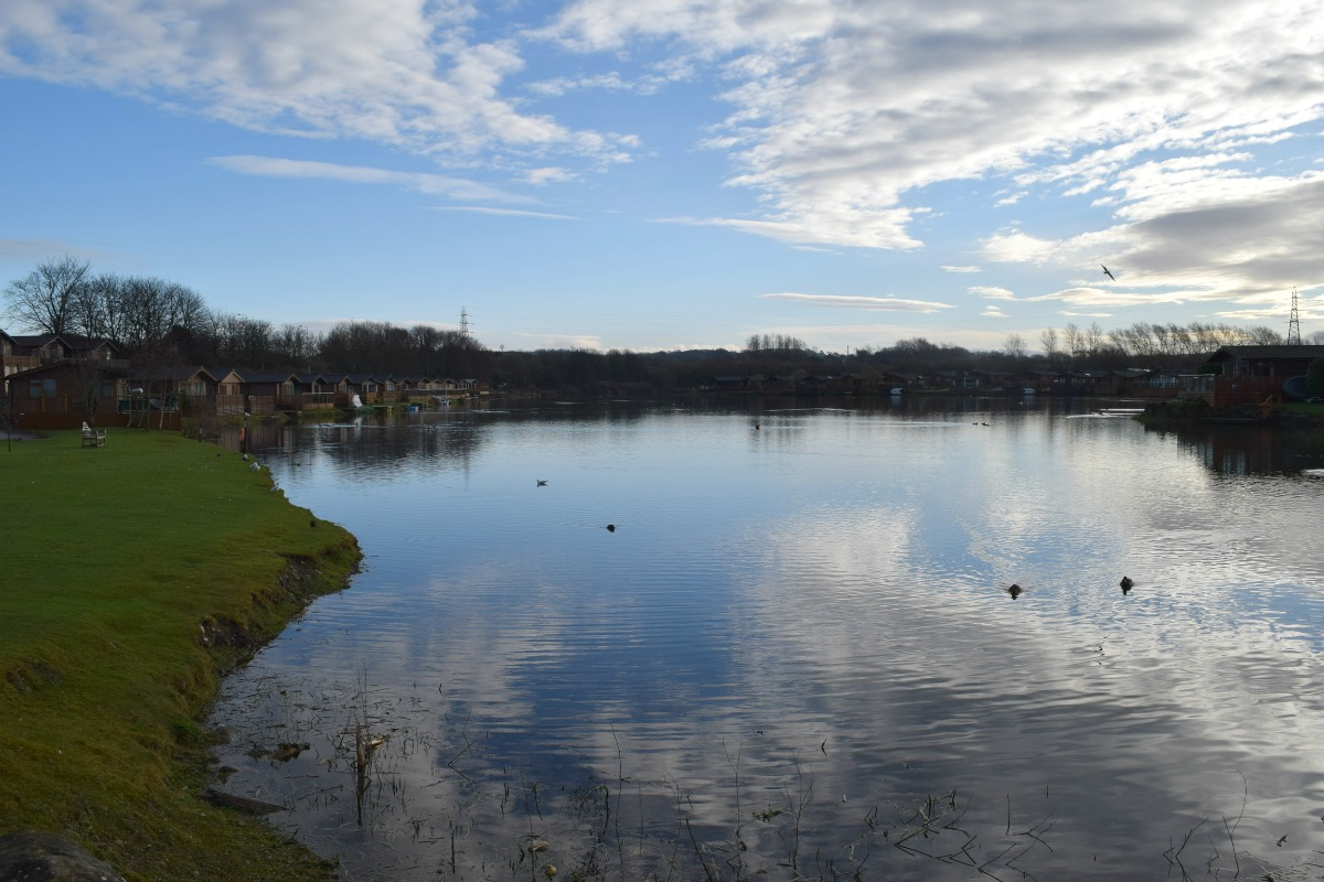 View of the lake at South Lakeland Leisure Village - Rainbeaubelle