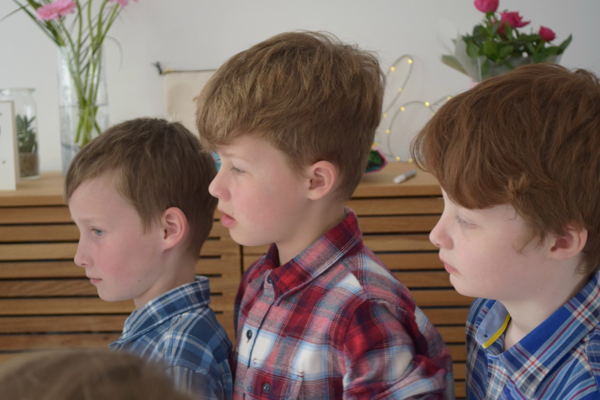 George, James and Sam at my party