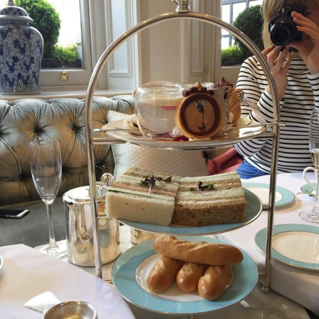 A beautiful Beauty and the Beast themed afternoon tea athellip