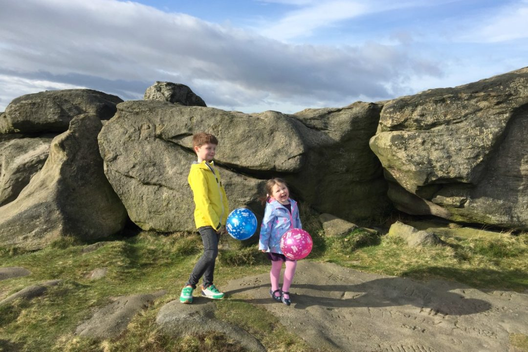 Balloons on the moor for Roger