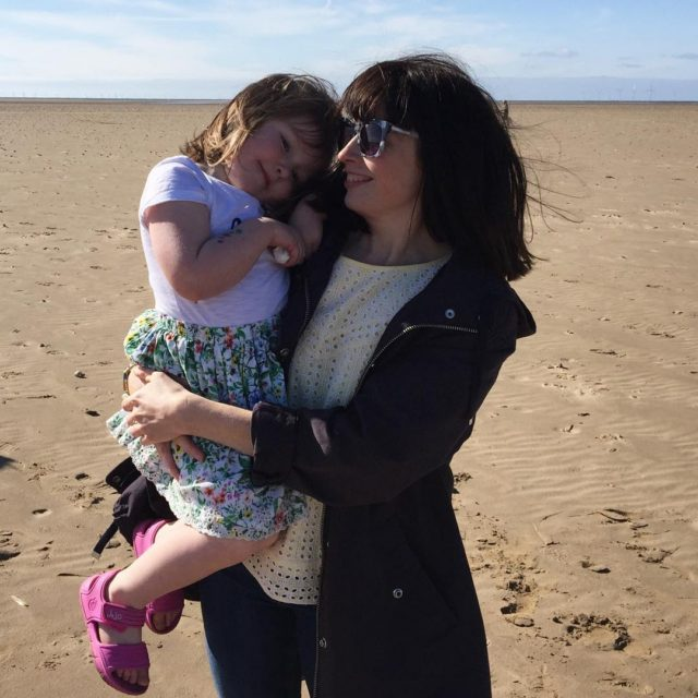 Me and my small girl on the beach yesterday