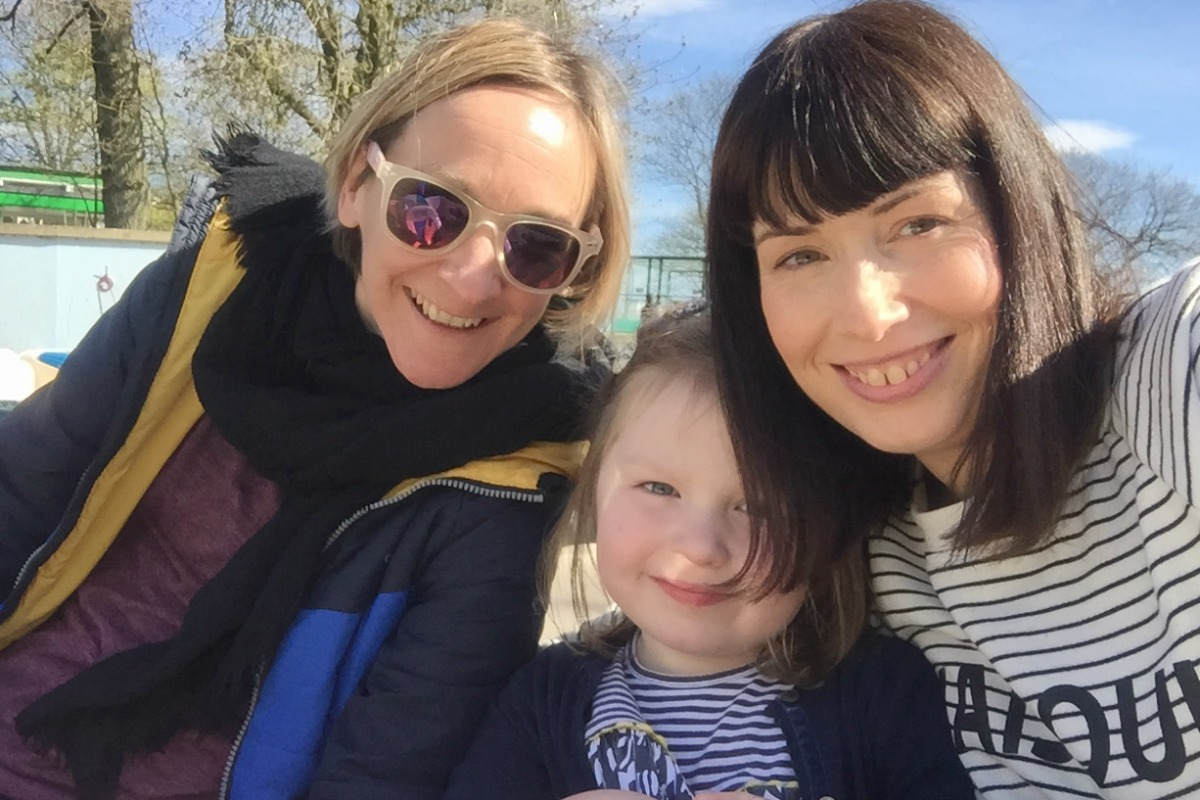 Me, Sal and Flo in Filey April 2017