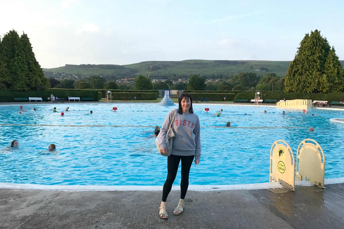 Me at the Lido in Ilkley