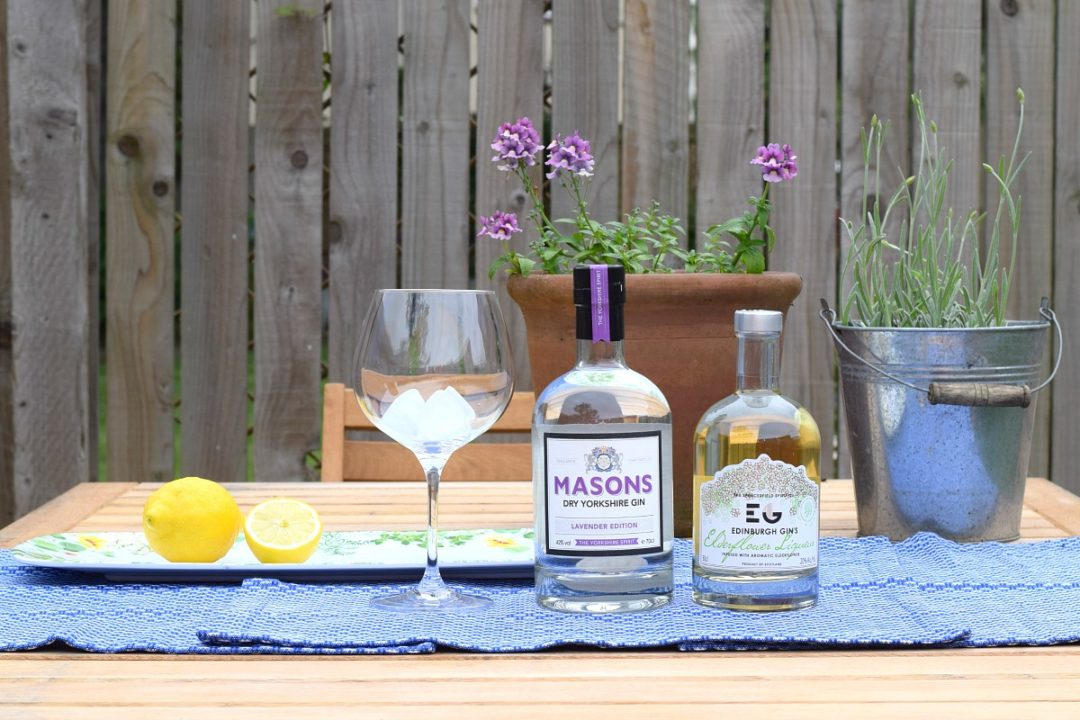 Lavender and elderflower gins