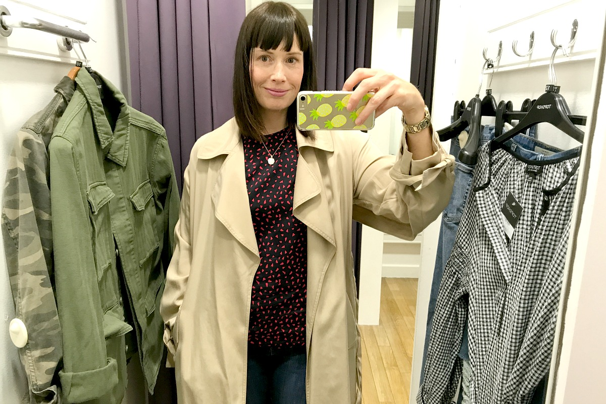 Jacket from Topshop Monks Cross long trench