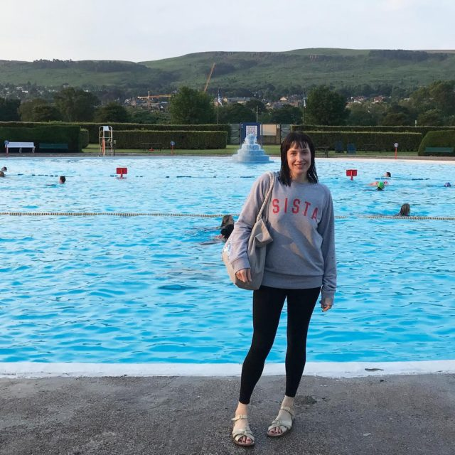 Just back from the Summer Solstice swim at Ilkley Lidohellip