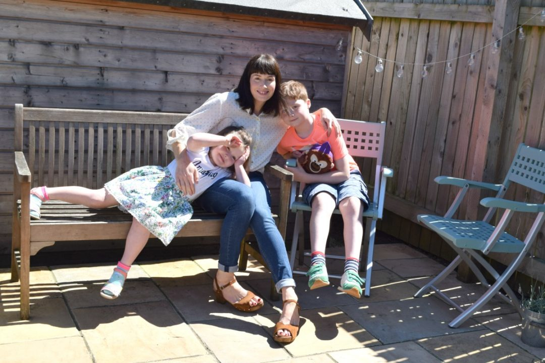 Me and Mine June 2017 on a bench