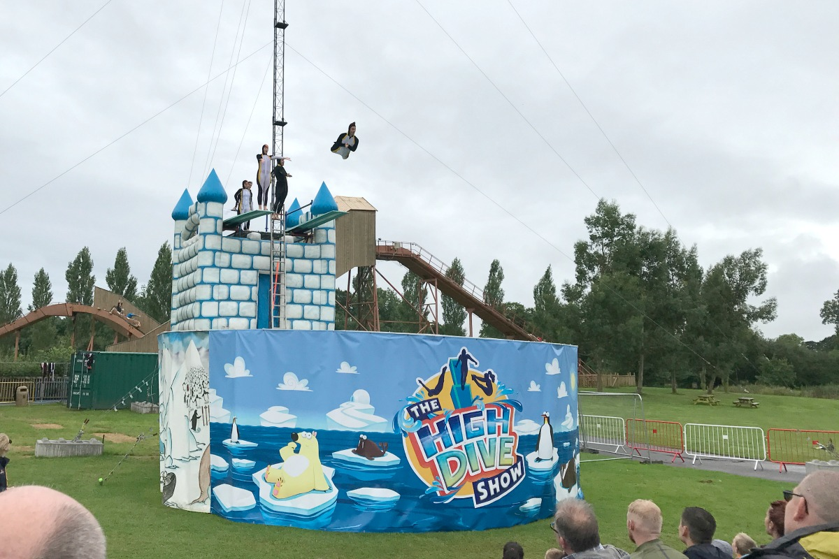 Crealy High Dive show