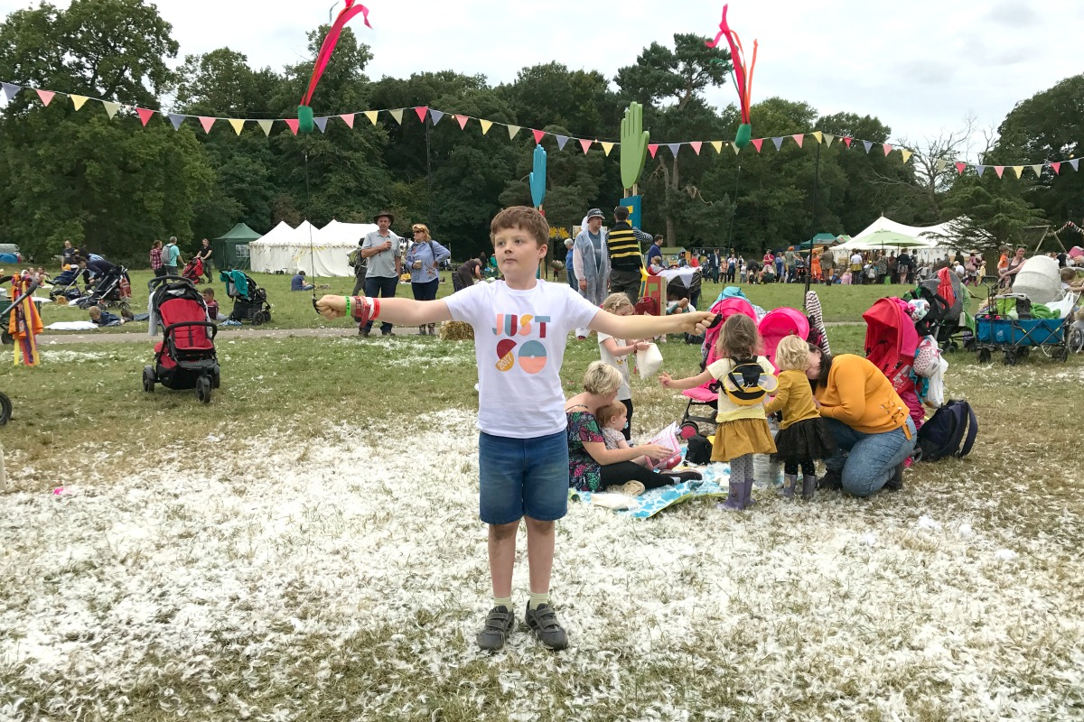 Sam at the festival
