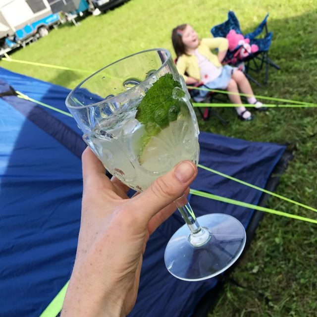 Celebratory mojito after putting the tent up! If this carrieshellip