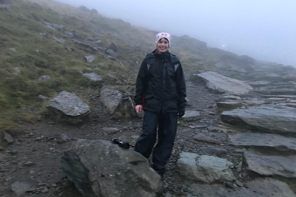 Jules on Snowdon