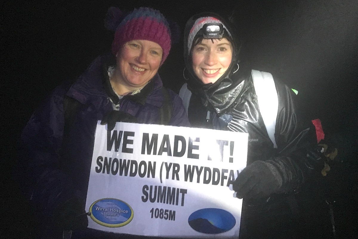 We made it up Snowdon