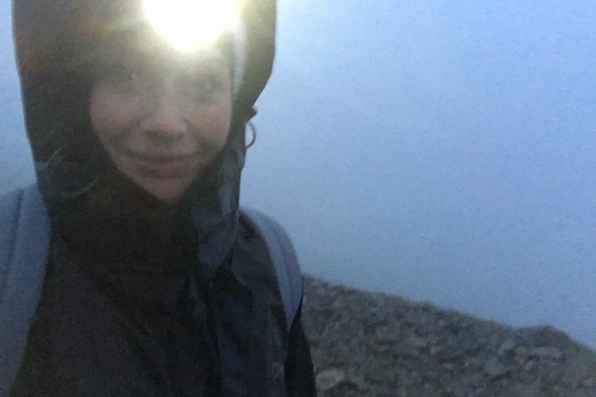 Head torch sunrise