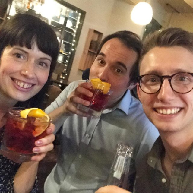 Negronis! On a work night out and trying my firsthellip