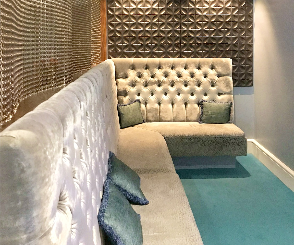 sofas in the Spa at the Midland