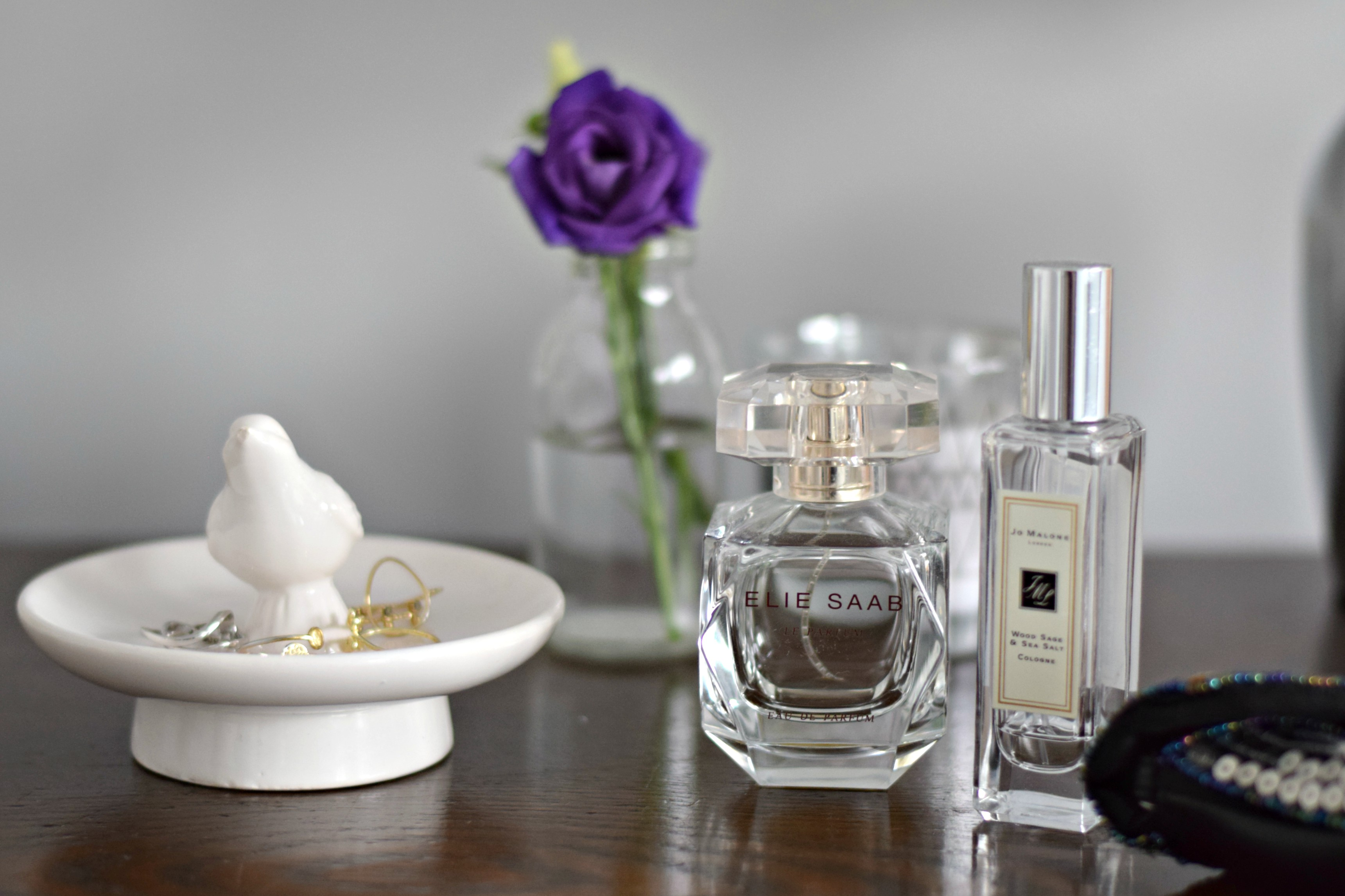 Perfume on dressing table