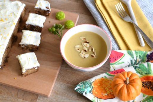 Pumpkin cake and soup