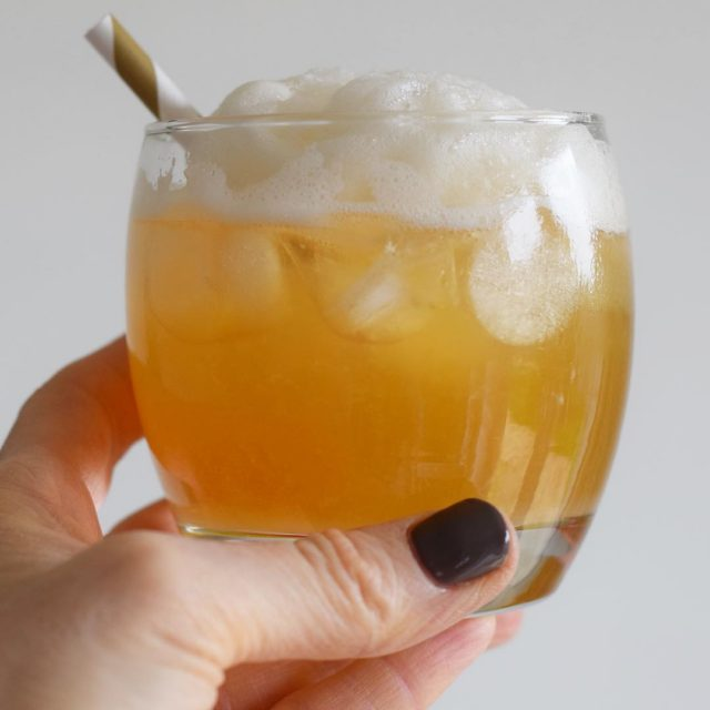 Cheers everyone! This is my favourite cocktail an amaretto sourhellip