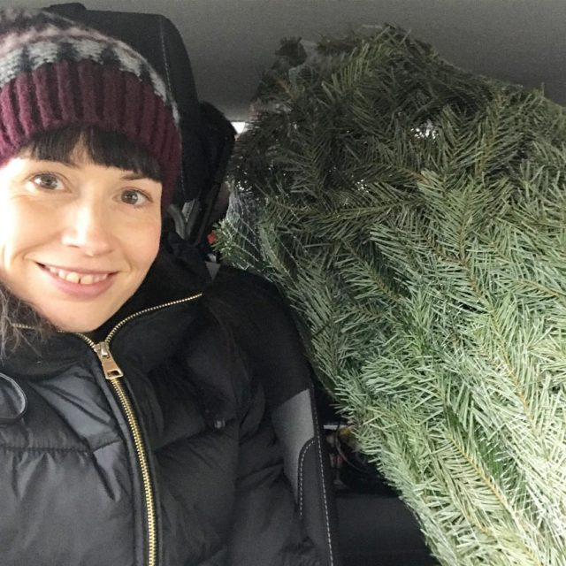 The annual bringing the Christmas tree home photo slightly ruinedhellip